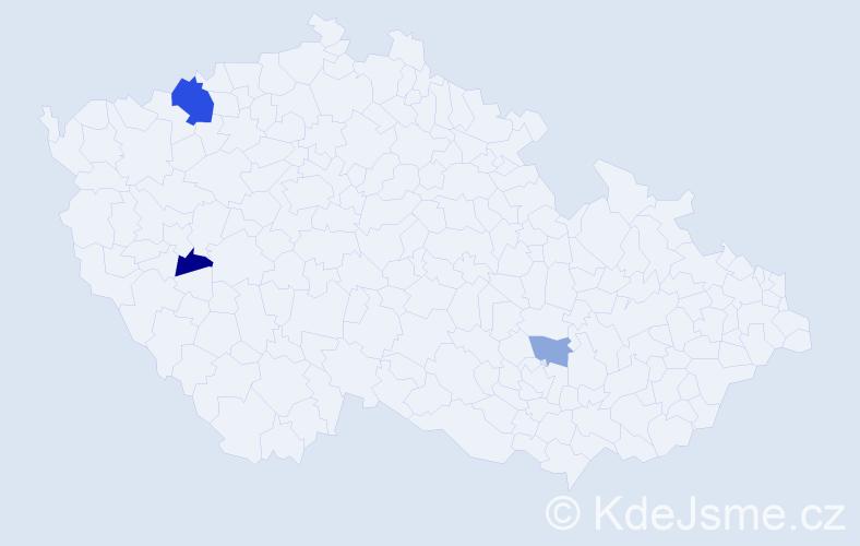 Příjmení: 'Barcová', počet výskytů 6 v celé ČR