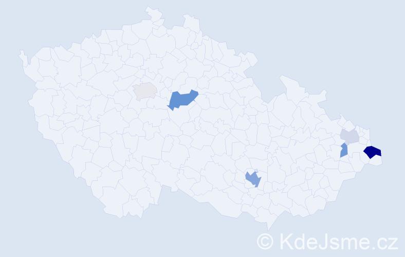 Příjmení: 'Kedzior', počet výskytů 13 v celé ČR