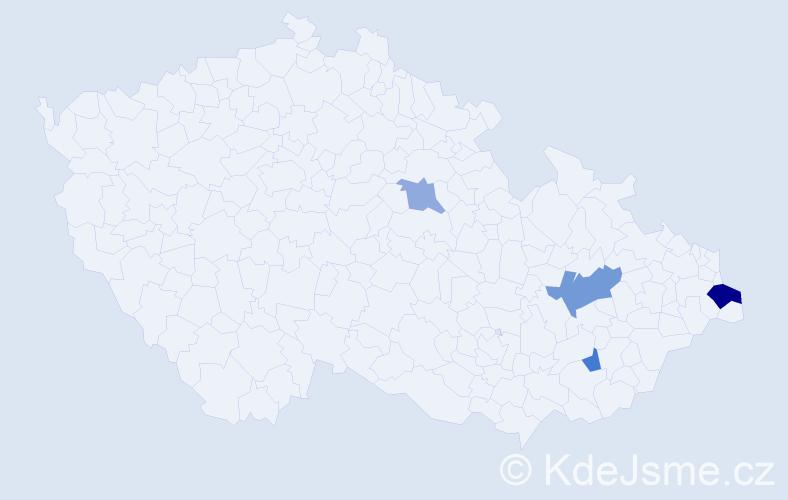 Příjmení: 'Biernacká', počet výskytů 7 v celé ČR
