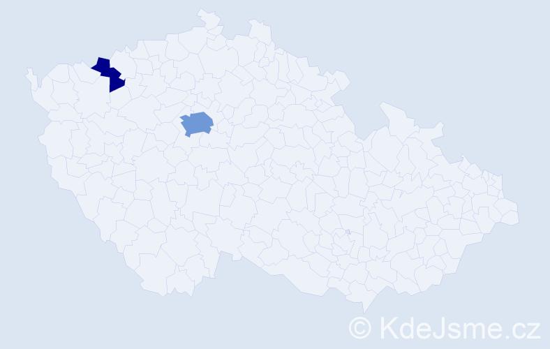 Příjmení: 'Iskerka', počet výskytů 6 v celé ČR