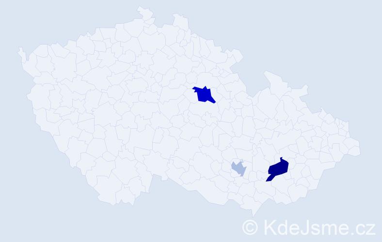 Příjmení: 'Kotleba', počet výskytů 11 v celé ČR