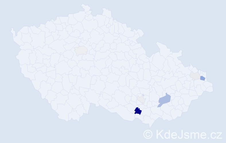 Příjmení: 'Gröbner', počet výskytů 16 v celé ČR