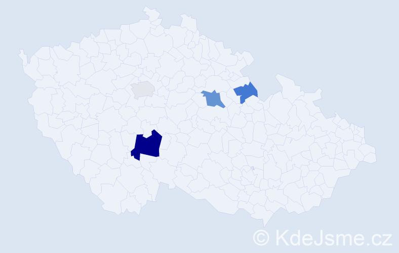 Příjmení: 'Kornherrová', počet výskytů 8 v celé ČR