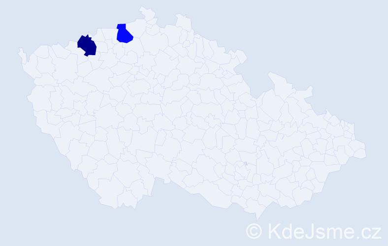Příjmení: 'Izavčuk', počet výskytů 2 v celé ČR