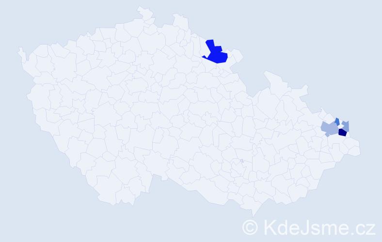 Příjmení: 'Čerchlová', počet výskytů 12 v celé ČR