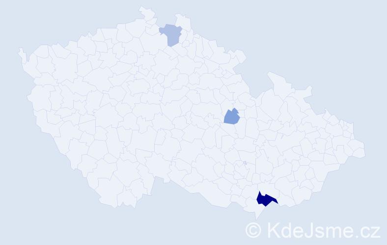 Příjmení: 'Juvová', počet výskytů 12 v celé ČR