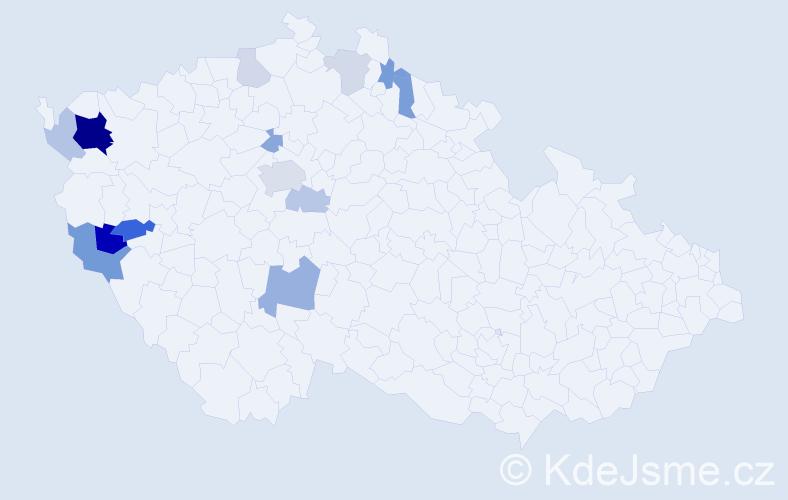Příjmení: 'Echtnerová', počet výskytů 31 v celé ČR