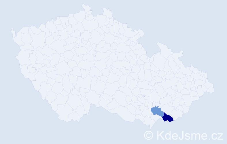 Příjmení: 'Gelbkopf', počet výskytů 3 v celé ČR