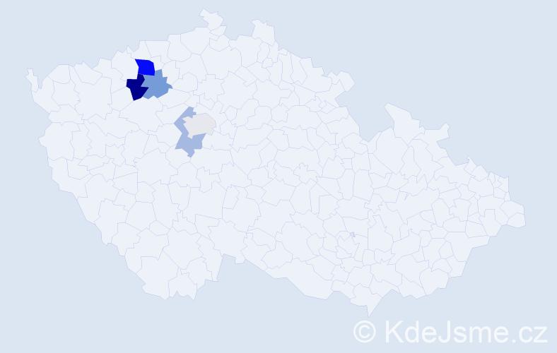 Příjmení: 'Fivebr', počet výskytů 9 v celé ČR
