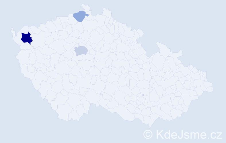 Příjmení: 'Goralka', počet výskytů 10 v celé ČR
