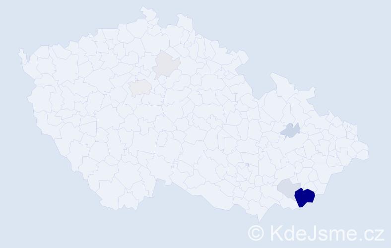 Příjmení: 'Fibichrová', počet výskytů 38 v celé ČR