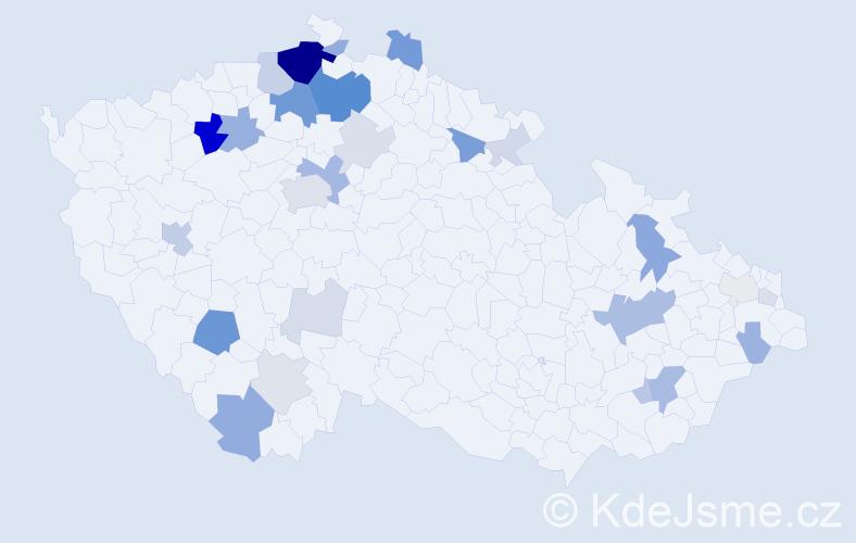 Příjmení: 'Halgašová', počet výskytů 82 v celé ČR