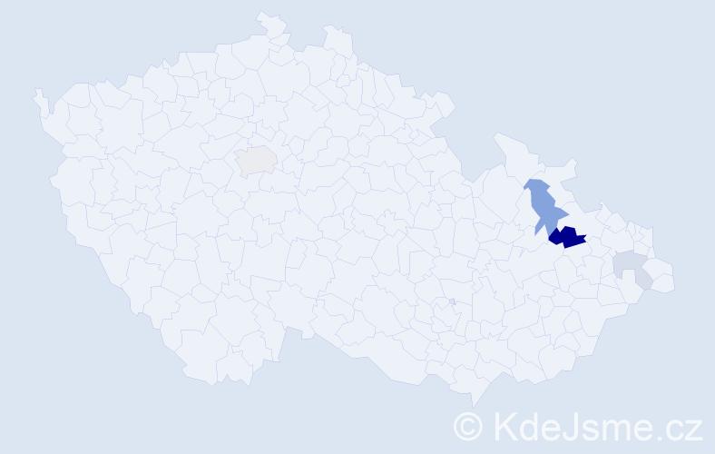 Příjmení: 'Čupák', počet výskytů 8 v celé ČR