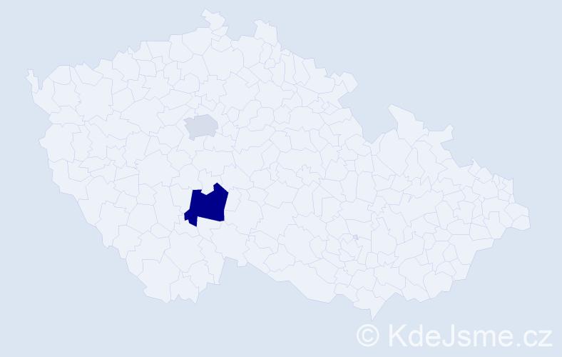 Příjmení: 'Denišová', počet výskytů 3 v celé ČR