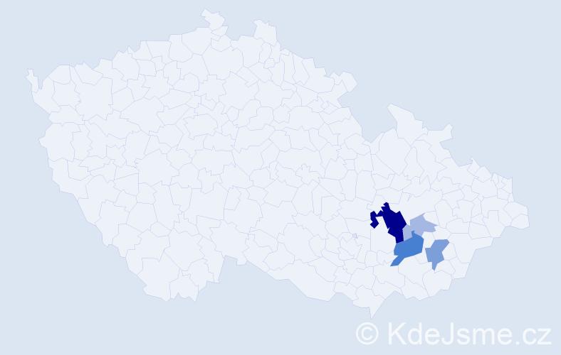 Příjmení: 'Bezslezinová', počet výskytů 13 v celé ČR