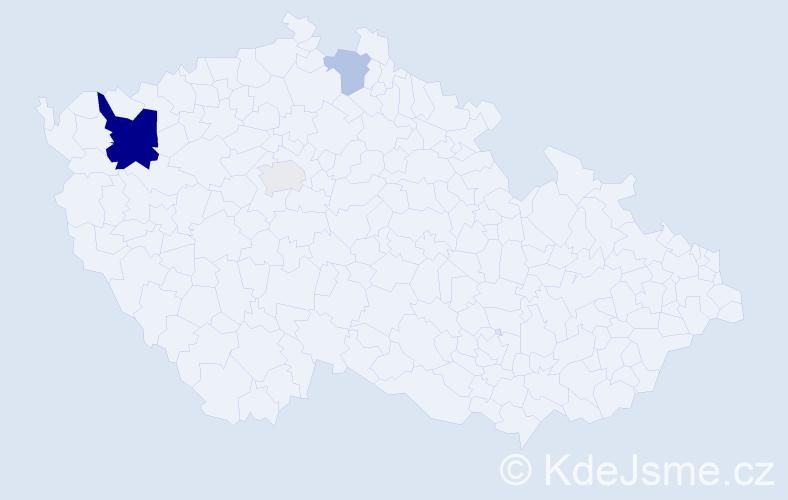 Příjmení: 'Grundler', počet výskytů 8 v celé ČR