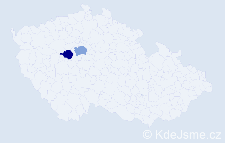 Příjmení: 'Lamari', počet výskytů 4 v celé ČR