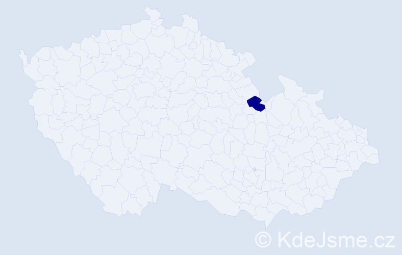 """Příjmení: '""""Blatti Tomaniová""""', počet výskytů 1 v celé ČR"""