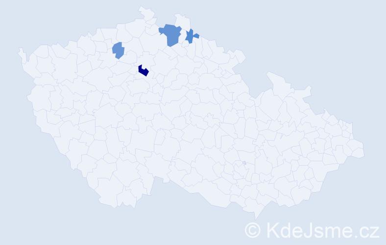 Příjmení: 'Danyluk', počet výskytů 9 v celé ČR