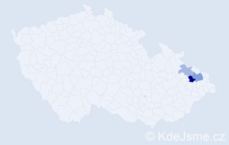 Příjmení: 'Laidolfová', počet výskytů 7 v celé ČR