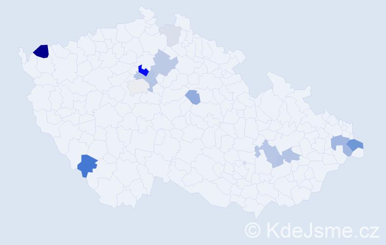Příjmení: 'Görög', počet výskytů 29 v celé ČR
