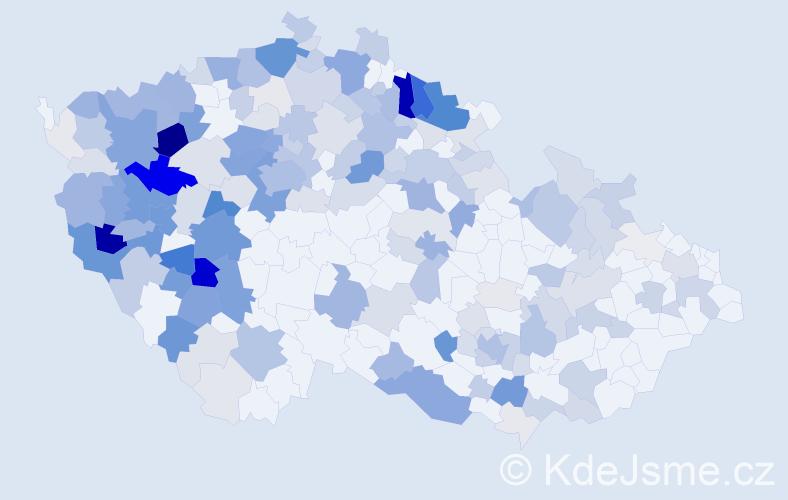 Příjmení: 'Braunová', počet výskytů 748 v celé ČR