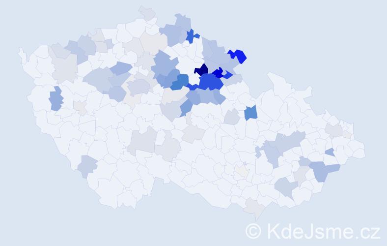 Příjmení: 'Hejcman', počet výskytů 284 v celé ČR