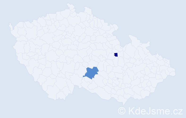Příjmení: 'Karastojanová', počet výskytů 3 v celé ČR