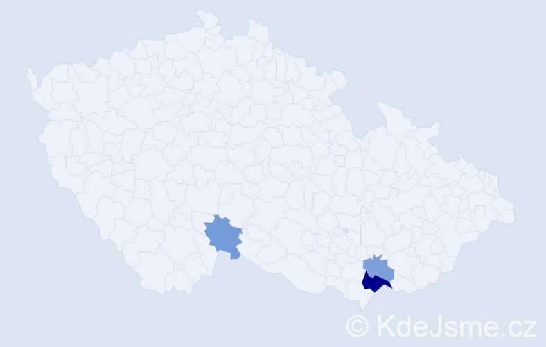 Příjmení: 'Grochálová', počet výskytů 6 v celé ČR