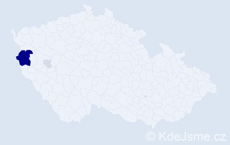Příjmení: 'Gondorčínová', počet výskytů 6 v celé ČR