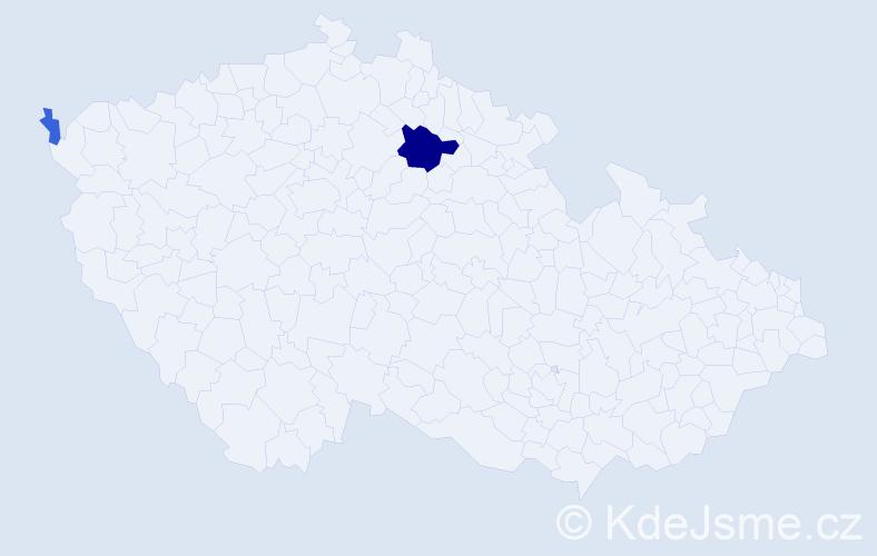 Příjmení: 'Lemmerová', počet výskytů 11 v celé ČR