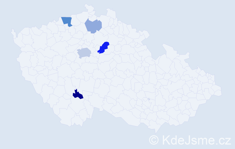 Příjmení: 'Bondarčuk', počet výskytů 12 v celé ČR