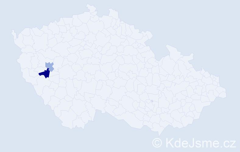Příjmení: 'Illický', počet výskytů 2 v celé ČR