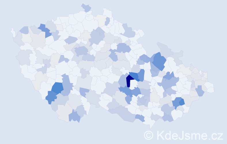 Příjmení: 'Hejtmánek', počet výskytů 656 v celé ČR