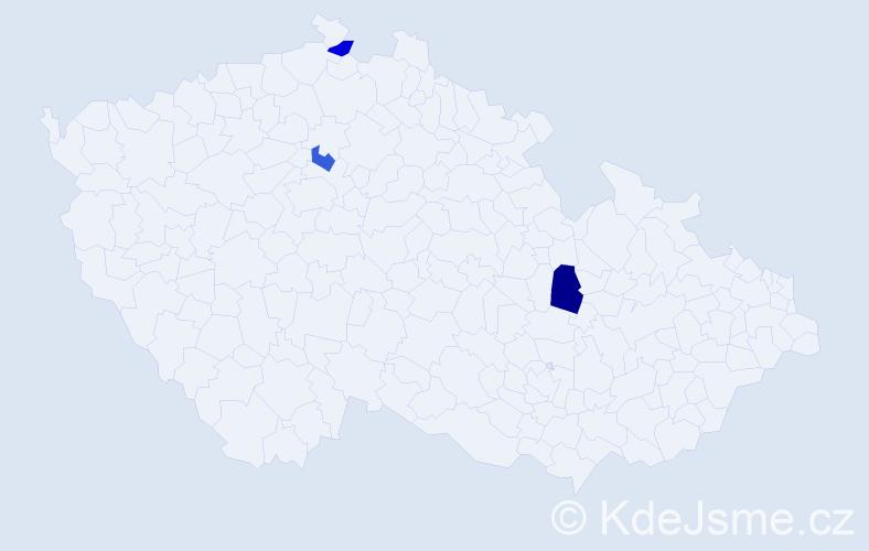 Příjmení: 'Hadar', počet výskytů 7 v celé ČR
