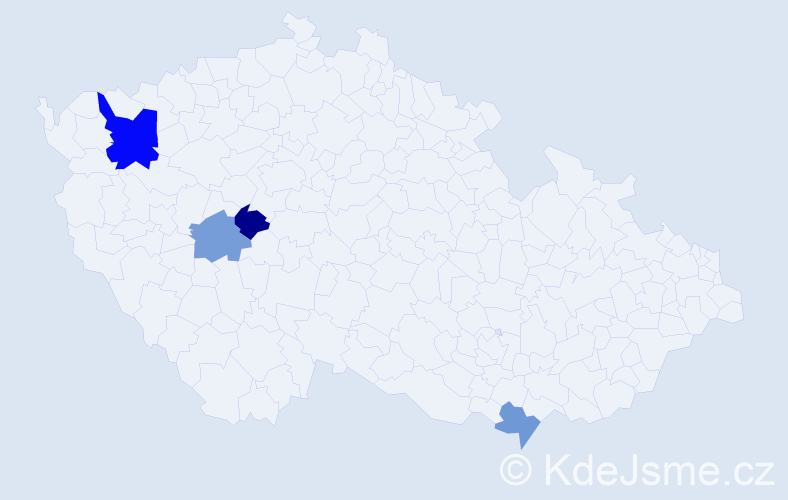 Příjmení: 'Ilečko', počet výskytů 6 v celé ČR