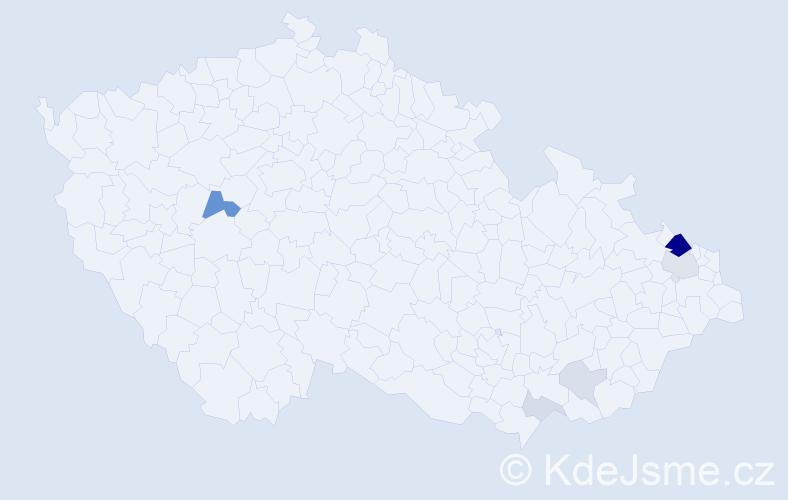 Příjmení: 'Kolenko', počet výskytů 18 v celé ČR