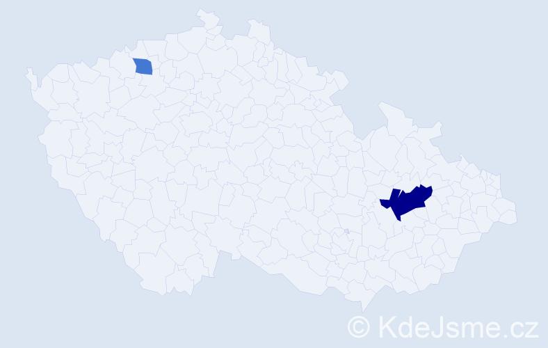 Příjmení: 'Gronowská', počet výskytů 4 v celé ČR