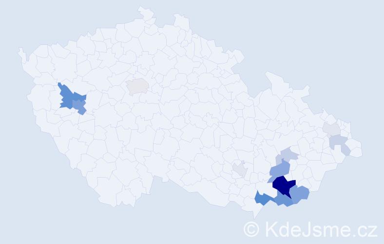 Příjmení: 'Junaštík', počet výskytů 35 v celé ČR