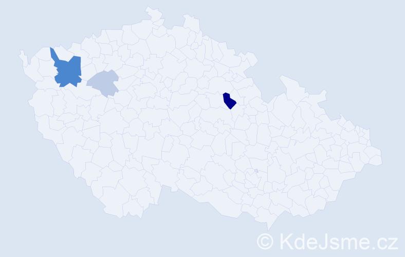 Příjmení: 'Forgová', počet výskytů 11 v celé ČR