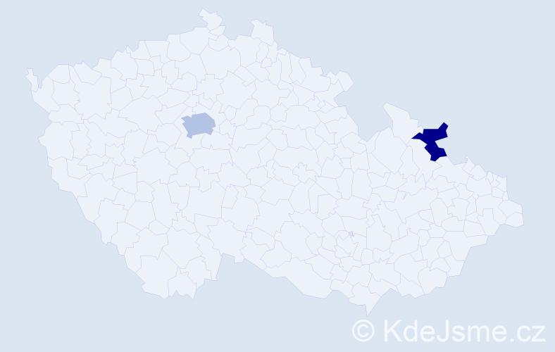 Příjmení: 'Eltifi', počet výskytů 3 v celé ČR