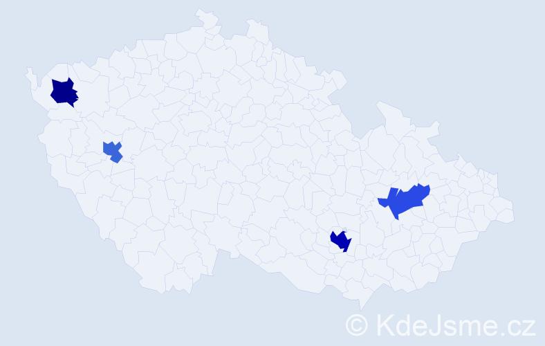 Příjmení: 'Fichtel', počet výskytů 6 v celé ČR