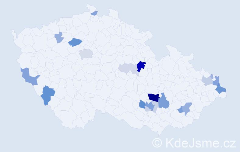 Příjmení: 'Lakotová', počet výskytů 76 v celé ČR