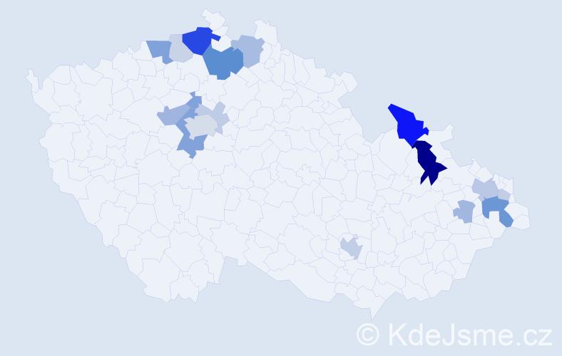 Příjmení: 'Drescher', počet výskytů 49 v celé ČR