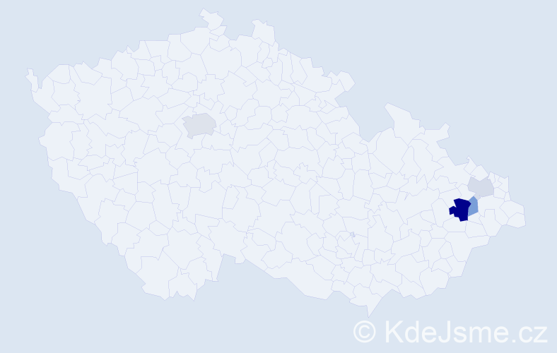 Příjmení: 'Erle', počet výskytů 16 v celé ČR