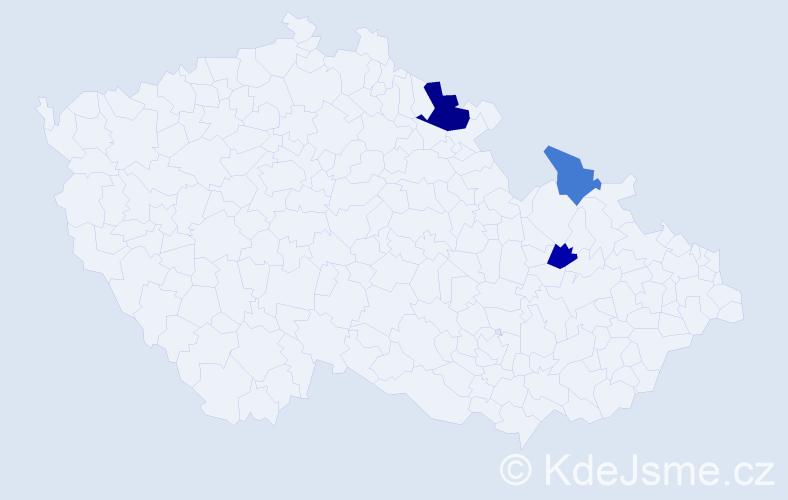Příjmení: 'Ewinger', počet výskytů 5 v celé ČR