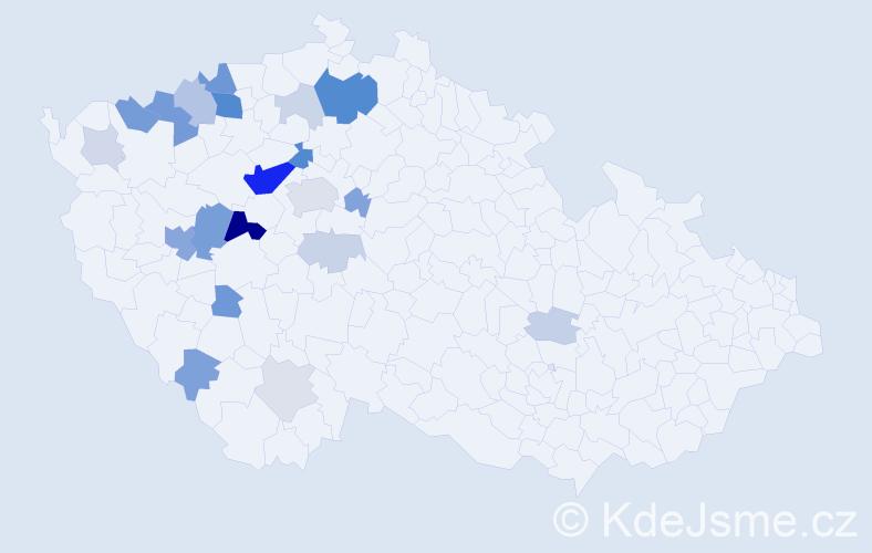 Příjmení: 'Braum', počet výskytů 70 v celé ČR