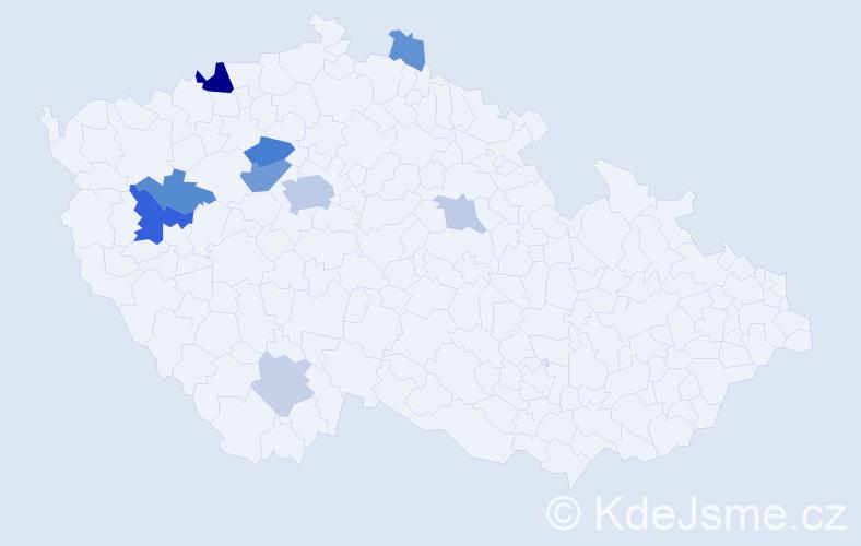 Příjmení: 'Bakajsová', počet výskytů 23 v celé ČR