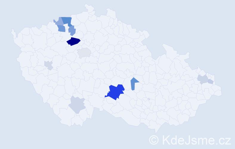 Příjmení: 'Gutwaldová', počet výskytů 31 v celé ČR