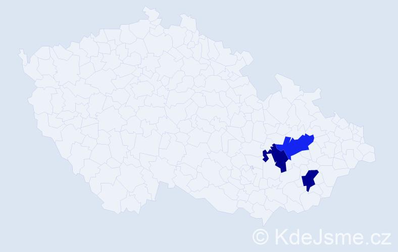Příjmení: 'Harbuz', počet výskytů 3 v celé ČR